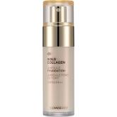 Тональная основа с коллагеном The Face Shop Gold Collagen Ampoule Foundation