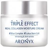 Антивозрастной крем для лица с пептидами и коллагеном Medi Flower Aronyx Triple Effect Real Collagen Moisture Cream