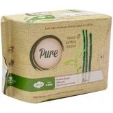 Ночные гигиенические прокладки с добавлением бамбукового угля Pure Bamboo Night