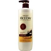 Восстанавливающий шампунь для поврежденных волос с экстрактом рисовых отрубей CJ Lion Rice Day Shampoo for Damaged Hair