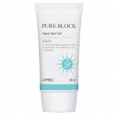 Увлажняющий солнцезащитный гель A'Pieu Pure Block Aqua Sun Gel SPF50+ PA+++