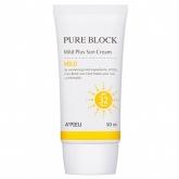 Солнцезащитный крем для лица A'Pieu Pure Block Natural Mild Plus Sun Cream SPF32 PA++