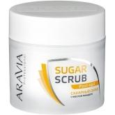 Сахарный скраб с маслом миндаля Aravia Professional Sugar Scrub Pre-epil Almond Oil