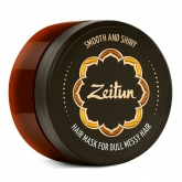Маска для тусклых волос Zeitun Hair Mask Smooth and Shiny for Dull Messy Hair Silk Peptides and Bay Essential Oil