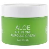 Ампульный крем для лица с экстрактом алоэ Ekel All In One Ampoule Cream Aloe