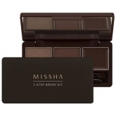 Набор теней для бровей Missha 3-Step Brow Kit