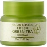 Крем для лица с экстрактом зеленого чая Nature Republic Fresh Green Tea 80 Cream
