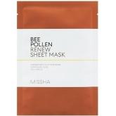 Тканевая маска для лица с пчелиной пыльцой Missha Bee Pollen Renew Sheet Mask
