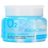 Крем с эпидермальным фактором роста FarmStay O2 Premium Aqua Cream