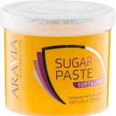 Мягкая сахарная паста не требующая разогрева Aravia Professional Sugar Paste Soft and Light