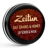 Скраб-маска для губ с овсяными хлопьями Zeitun Oat Grains and Honey Lip Scrub and Mask