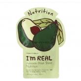 Тканевая маска для лица с авокадо Tony Moly  I'm Real Avocado Mask Sheet