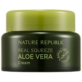 Крем для лица с экстрактом алоэ Nature Republic Real Squeeze Aloe Vera Cream