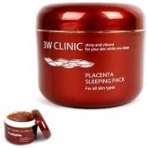 Ночная маска для лица с экстрактом плаценты 3W Clinic Placenta Sleeping Pack