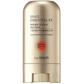 Солнцезащитный стик с муцином The Saem Snail Essential EX Wrinkle Solution Sun Stick SPF50+ PA+++