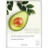 Тканевая маска с экстрактом авокадо Jungnani Real Fresh Tropical Mask Pack Avocado