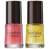 Лак для ногтей 01 Грейпфрут The Saem Eco Soul Nail Collection Soda