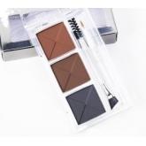 Трехцветные тени для бровей VOV Shine Brow Liner