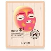 Согревающая тканевая маска The Saem Believe Me Heating Mask Sheet