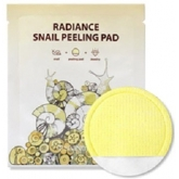Пилинг-диски с муцином, АНА-кислотами и жемчужной пудрой SeaNtree Radiance Snail Peeling Pad