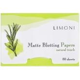 Матирующие салфетки для лица Limoni Matte Blotting Papers