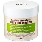Подушечки для очищения кожи с центеллой Purito Centella Green Level All In One Mild Pad