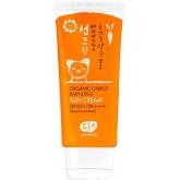 Детский солнцезащитный крем с экстрактом моркови Whamisa Organic Carrot Baby and Kids Sun Cream Natural Fermentation SPF 50+ PA++++