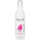 Лосьон для ухода за кожей после депиляции с фруктовыми кислотами Aravia Professional Lotion Post-epil 2 in 1 Complex Fruid Acids