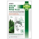 Маска с cоком алоэ Mijin Cosmetics Junico Crystal All-in-one Facial Mask Aloe