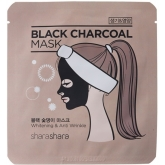 Антивозрастная маска Shara Shara Charcoal Mask Whitening & Anti Wrinkle