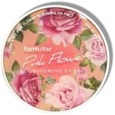 Компактная пудра с растительными экстрактами FarmStay Pink Flower Blooming UV Pact SPF50/PA+++