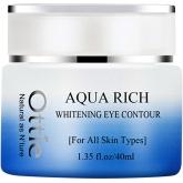 Осветляющий крем для области вокруг глаз Ottie Aqua rich whitening eye contour