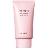 Солнцезащитный праймер The Saem Eco Earth Pink Sun Base SPF50+ РА++++