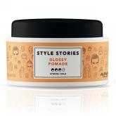 Помада с эффектом экстра блеска сильного уровня фиксации Alfaparf Milano Style Stories Glossy Pomade