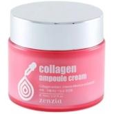 Крем для лица на основе коллагена Zenzia Collagen Ampoule Cream