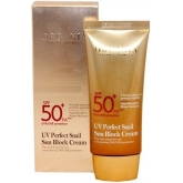 Солнцезащитный крем для лица с муцином улитки SPF 50+ PA+++ White Cospharm UV Perfect Snail Sun Block Cream