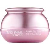Антивозрастной крем с улиточным муцином Bergamo Pure Snail Wrinkle Care Cream