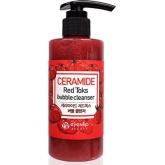 Пенка для умывания с пузырьками Eyenlip Ceramide Red Toks Bubble Cleanser