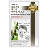 Улиточная маска с муцином Mijin Cosmetics Junico Crystal All-in-one Facial Mask Snail