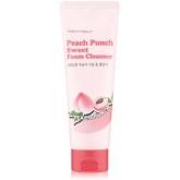 Персиковая пенка для умывания  Tony Moly Peach Punch Sweet Foam Cleanser