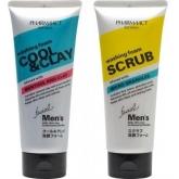 Мужская пенка для умывания Kumano Cosmetics Pharmaact Washining Foam Cool And Clay Facial Men