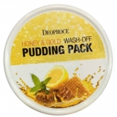 Маска для лица с медом и золотом Deoproce Honey And Gold Wash Off Puding Pack