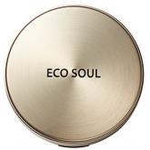 Компактная пудра с пептидами, коллагеном и жемчугом The Saem Eco Soul Luxury Gold Pact SPF30 РА+++