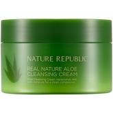 Очищающий крем с алоэ вера Nature Republic Real Nature Aloe Cleansing Cream
