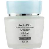 Крем для лица с коллагеном 3W Clinic Excellent White Cream