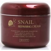Крем для лица с муцином улитки Jigott Snail Repairing Cream