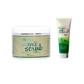Скраб с зеленым чаем и солью Elizavecca Greentea salt Body scrub