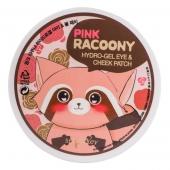 Патчи для век и щек Secret Key Pink Racoony HydroGel Eye and Cheek Patch
