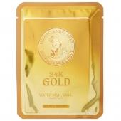 Маска с золотом и улиткой Elizavecca 24k Gold Water Dew Snail Mask