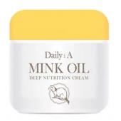 Экстрапитательный крем с жиром норки Deoproce Daily A Mink Oil Deep Nutrition Cream